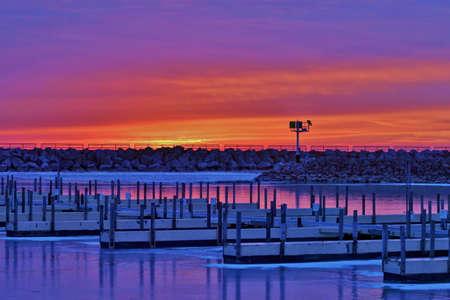 Sunrise at the Marina  Lexington, Michigan