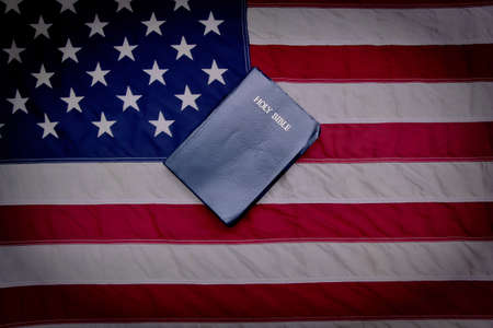 For God and Country  Bible with American flag