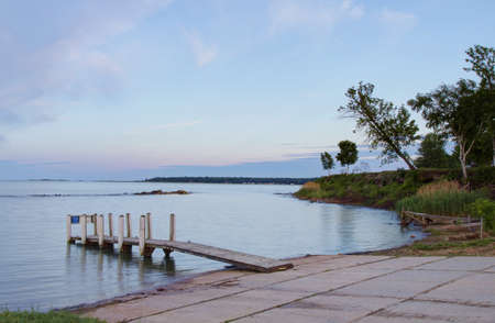 The Dock of the Bay  Lighthouse Park  Port Hope, Michigan  photo