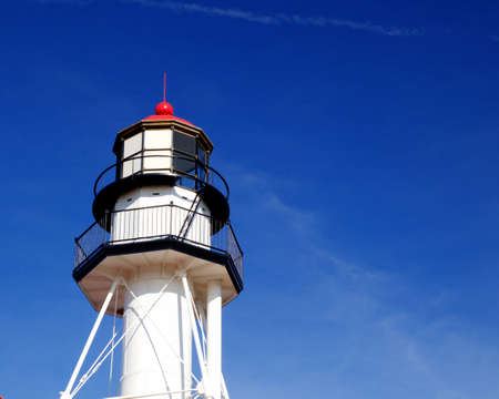Close up of the Whitefish Point Lighthouse   Whitefish Point, Michigan   photo