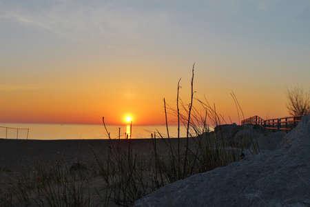 endings: Sunrise over the endless horizon of the Great Lakes  Sanilac County Park  Lexington, Michigan