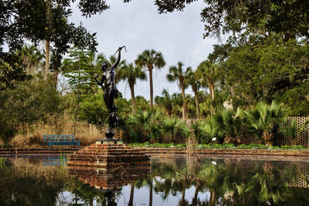 Brookgreen Gardens has survived the brutal winter weather and after a three closure is reopened and ready for visitors  Brookgreen Gardens  Murrells Inlet, South Carolina   Stock Photo