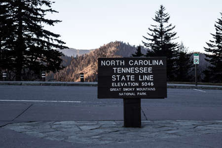 North Carolina and Tennessee border at an elevation of 5046 ft  Great Smoky Mountains National Park