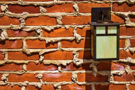 outdoor lighting: Outdoor Lighting fixture on brick wall