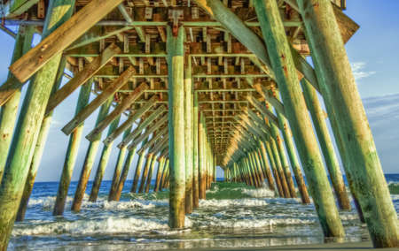 Under the boardwalk in Myrtle Beach, South Carolina   photo