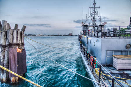 huron: The US Navy vessel the Gray Fox docked in Port Huron, Michigan  This vessel is used for training Naval cadets   Editorial