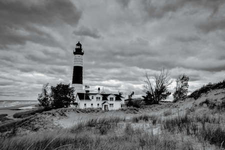ludington: The Big Sable Point Lighthouse located on a remote beach in Ludington, Michigan