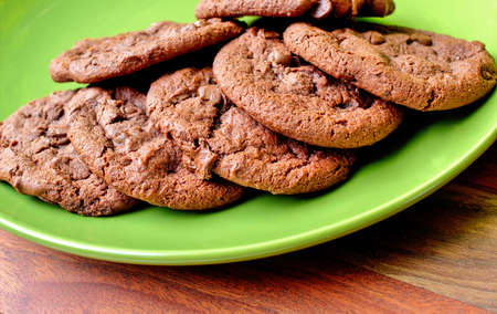 double oven: Fresh from the oven double chocolate cookies