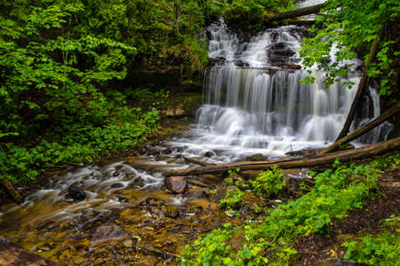 alger: Gorgeous Wagner Falls located in Michigan s wild and beautiful Upper Peninsula