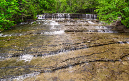 Au Train Falls cascades towards Lake Superior  Hiawatha National Forest  Au Train, Michigan   photo
