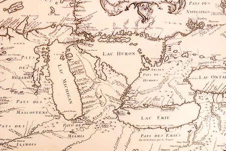 1700 s 年頃五大湖の歴史フランスの地図