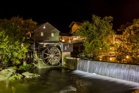 gristmill: The Old Mill located in Pigeon Forge, Tennessee is one of the oldest operating grist mills in America. It also serves as a restaurant and is a popular tourist destination