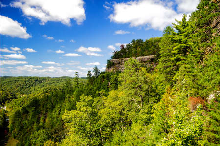 The Lovers Leap overlook in Natural Bridge State Park. Slade, Kentucky.