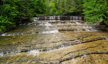 Wilderness Waterfall. Beautiful Au Train Falls is one of many waterfalls in Alger County, Michigan. photo