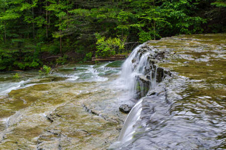 alger: Wilderness Waterfall. Beautiful Au Train Falls is one of many waterfalls in Alger County, Michigan.