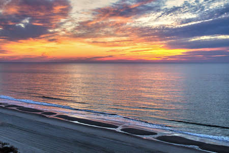 grand strand: Good Morning Myrtle Beach. Aerial view of the Myrtle Beach shore along America