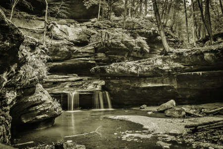 Dreamland. Mystical landscape of Hocking Hills State Park. Logan, Ohio. photo