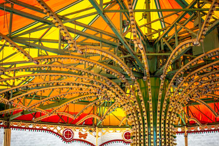 kiddie: Canopy of a kiddie ride at a local fair.