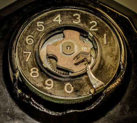 antique phone: Time For An Upgrade. Broken antique phone means it is time  for an upgrade. Stock Photo