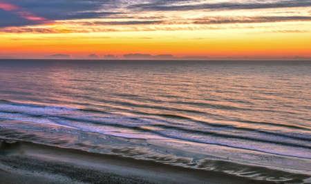Myrtle Beach tijdens Sunrise Stockfoto
