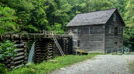 grist mill: Historical Grist Mill. Historical Grist Mill located on the Roaring Fork Motor Nature Trail in the Great Smoky Mountains National Park.