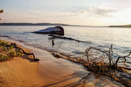 pictured: Shipwreck along a remote Lake Superior beach in Pictured Rocks National Lakeshore in Michigan s Upper Peninsula