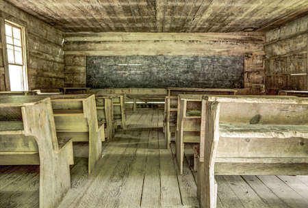 schoolhouse: Pioneer Schoolhouse. Little Greenbriar Schoolhouse located in the Great Smoky Mountains National Park.
