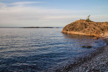 marquette:  The rugged wild beauty of Presque Isle Park on the shores of Lake Superior in Marquette, Michigan.