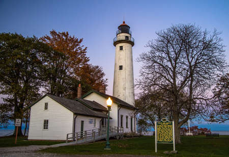 lighthouse keeper: Haunted Point Aux Barques. The reportedly haunted lighthouse at Point Aux Barques located in Port Hope, Michigan. Visitors report seeing a female specter in the window of the caretakers cottage. Point Aux Barques was home to the first female light keeper