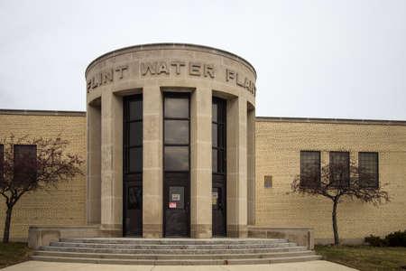contaminacion del agua: Flint Michigan Planta de agua. Flint, Michigan, EE.UU. - 2 de febrero de 2016. El exterior de la planta de Flint agua en Michigan. Flint se encuentra en el centro de atenci�n como las preocupaciones sobre el mismo de la calidad del agua y el contenido de plomo han sido noticia nacional. Editorial