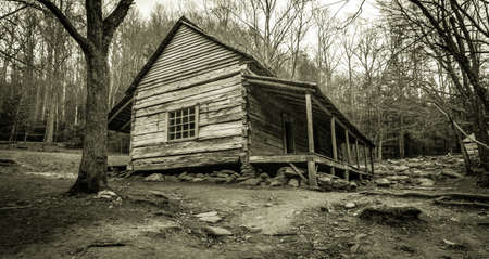 great smoky mountains national park: Smoky Mountain Cabin. The Ogle Historical Cabin on the Roaring Fork Motor Nature Trail Great Smoky Mountains National Park. This is a public owned structure in a national park and not private property