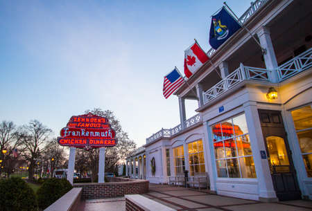 family owned: Frankenmuth, Michigan, USA - April 17, 2016. Opened in 1928, Zehnders  is a famous Michigan restaurant that serves up to 3,000 customers daily.