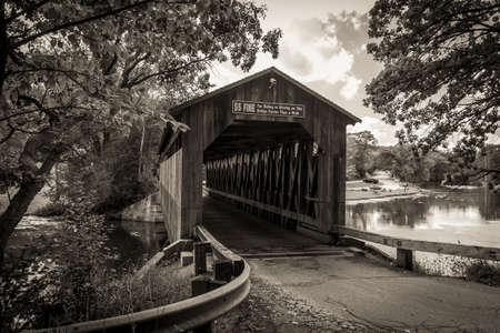 Michigan Historical Covered Bridge.  The historical Fallasburg covered bridge remains open to auto traffic and is located about 30 minutes from the city of Grand Rapids in Lowell Michigan.