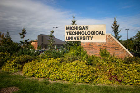 specializes: Houghton, Michigan, USA -  October 4, 2016: The campus of Michigan Technological University in Michigans Upper Peninsula. The college specializes in programs for technology, engineering and science. Editorial