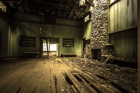 Interior Of Elkmont Home. The interior of an abandoned vacation home on Millionaires Row in the Great Smoky Mountains National Park. Gatlinburg, Tennessee. Structure is owned by the national park and not private property.