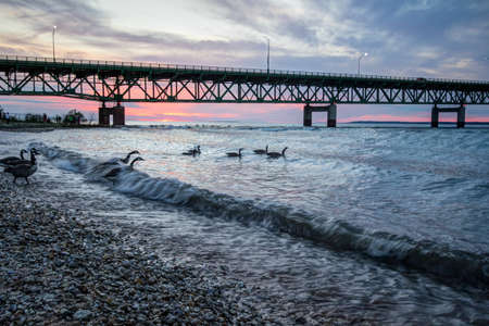 Under Mackinaw. Beneath the Straits of Mackinaw lies the controversial Pipeline Number 5. Opponents claim the oil line threatens the largest freshwater system in the world.