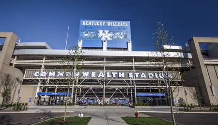 Lexington, Kentucky, USA - April 22, 2016: Entrance to the Commonweath Stadium in Lexington, Kentucky. The stadium is home to University of Kentucky Wildcats football team.