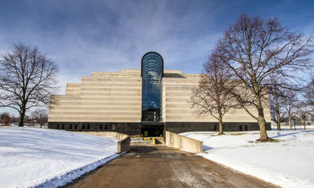 Lansing, Michigan, USA - January 20, 2018: Exterior of the Michigan History Center, state library and archives in the downtown district of Lansing Michigan. Stock Photo - 103885506