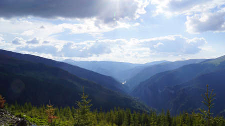 est: Beautiful Carpathian mountains panoramas, Est Europe, Romania.