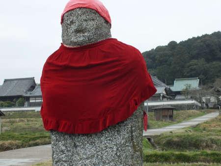 stone buddha: A Stone Buddha in Nara Stock Photo