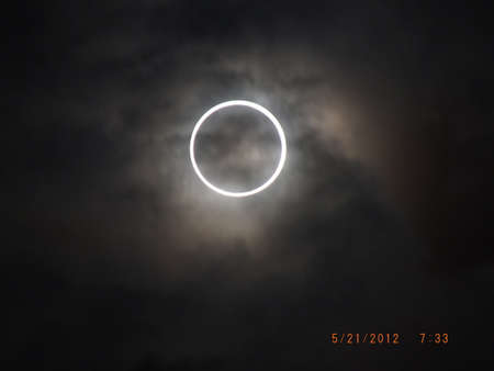 eclipse: The Annular Eclipse Stock Photo