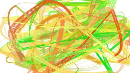 painted chaos strokes with dark khaki, lime green and beige colors. can be used as wallpaper, poster or background for social media illustration. 版權商用圖片