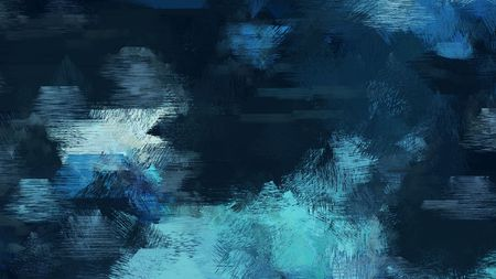 very dark blue, medium turquoise and light blue color brushed vintage background. can be used for wallpaper, cards, poster or creative fasion design elements. Foto de archivo