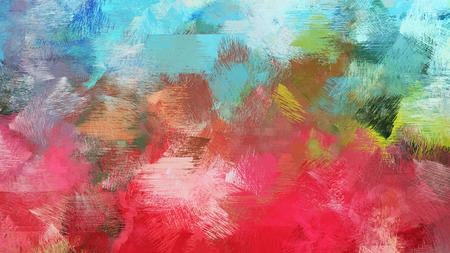 moderate red, pastel blue and teal blue color brushed strokes background. artistic texture can be used for wallpaper, cards, poster or creative fasion design elements.