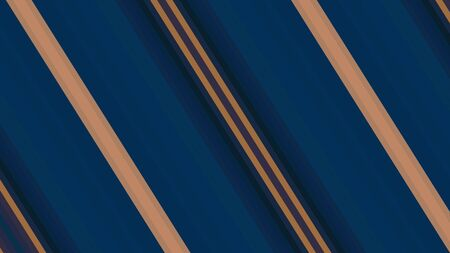 diagonal stripes with very dark blue, peru and old mauve color from top left to bottom right. Stock Photo