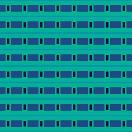 dark cyan, dark slate blue and light sea green repeating geometric shapes. can be used for tablecloth fashion design, textiles, wallpaper or as texture.