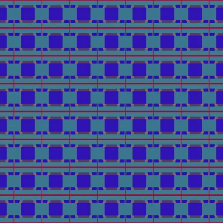 dark slate blue, teal blue and firebrick repeating geometric shapes. can be used for tablecloth fashion design, textiles, wallpaper or as texture.