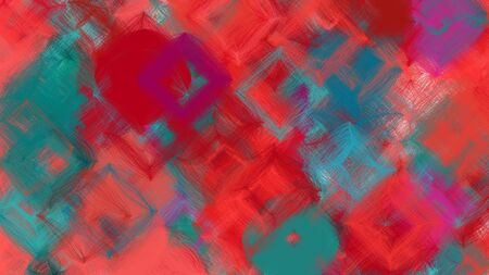 beautiful digital art with moderate red, teal blue and firebrick colors. dynamic and colorful abstract artwork can be used as wallpaper, poster, canvas or background texture.