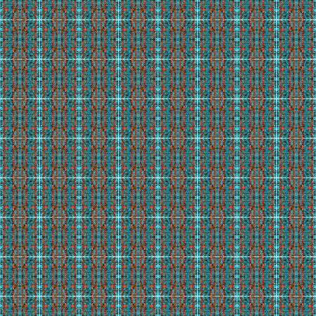 seamless pattern with teal blue, indian red and medium turquoise colors. can be used for plaid, fabric design, wrapping paper, wallpaper or web pages. Фото со стока