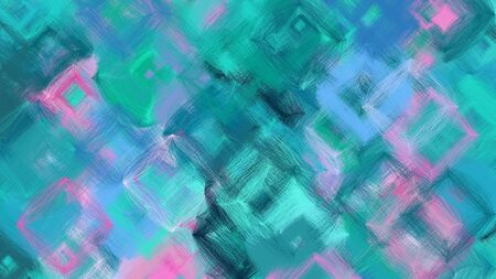 beautiful digital art with steel blue, light sea green and pastel violet colors. dynamic and colorful abstract artwork can be used as wallpaper, poster, canvas or background texture. Фото со стока